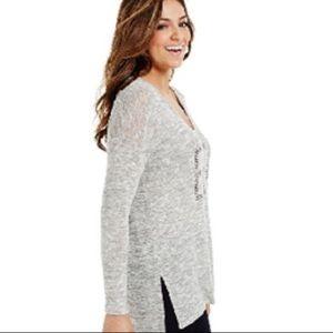 Bethany Mota Tops - Bethany Mota    Silver grey  top